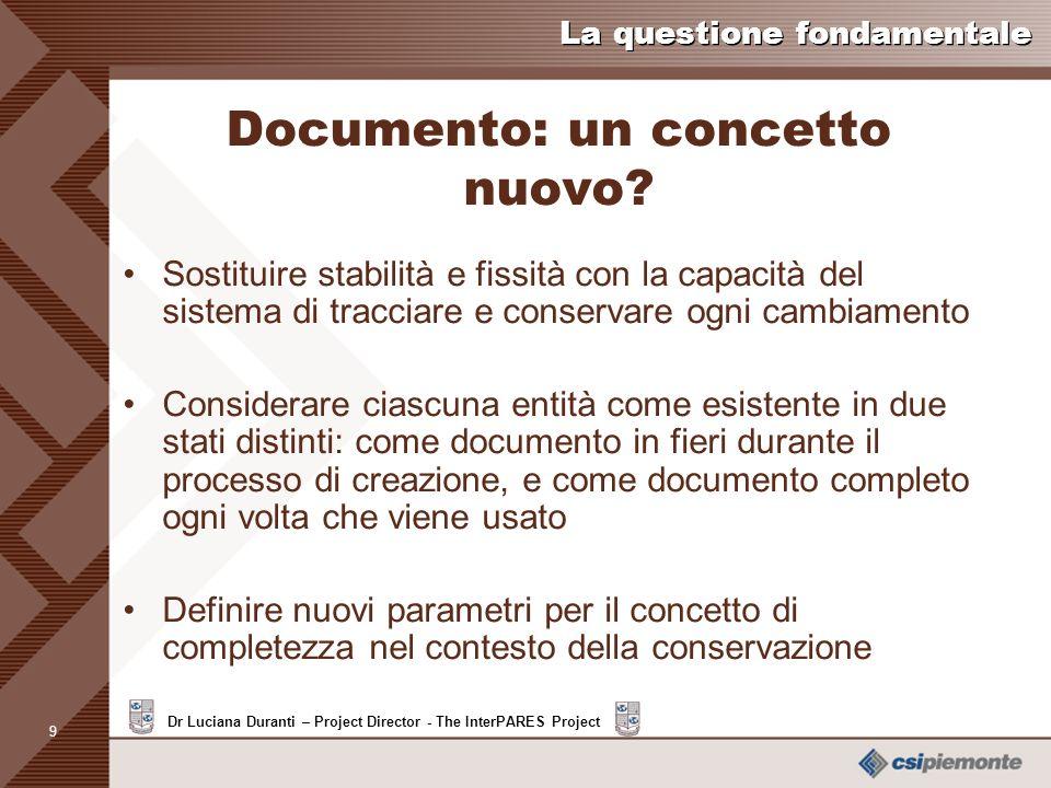 Documento: un concetto nuovo