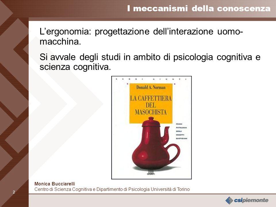 L'ergonomia: progettazione dell'interazione uomo-macchina.