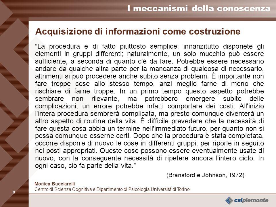 Acquisizione di informazioni come costruzione