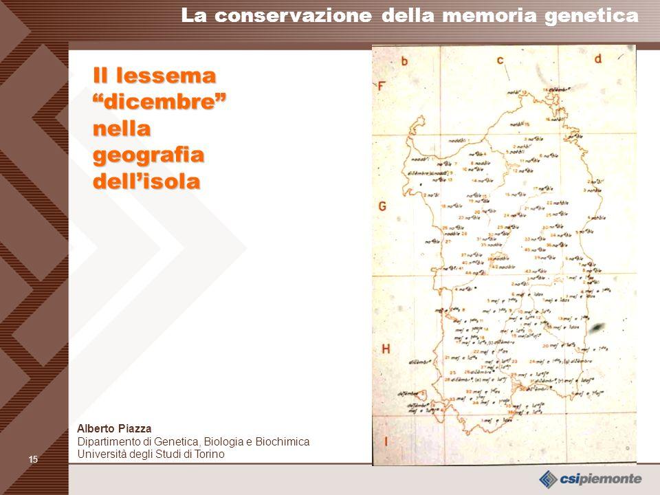 Il lessema dicembre nella geografia dell'isola