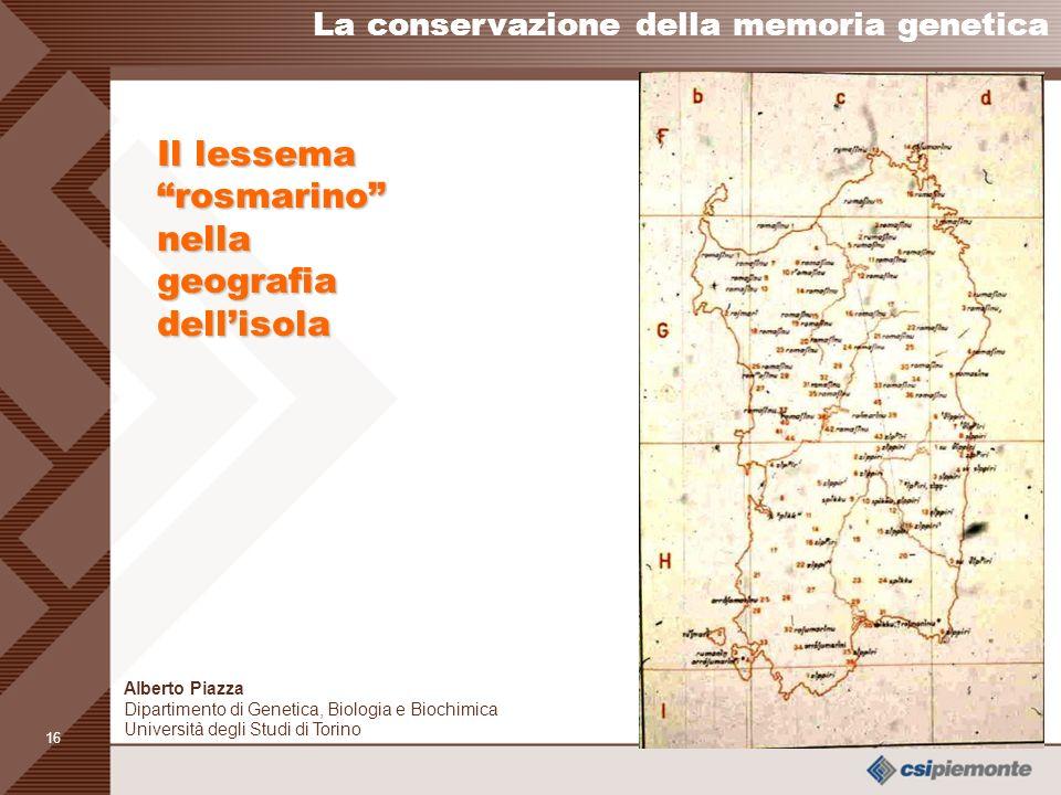 Il lessema rosmarino nella geografia dell'isola
