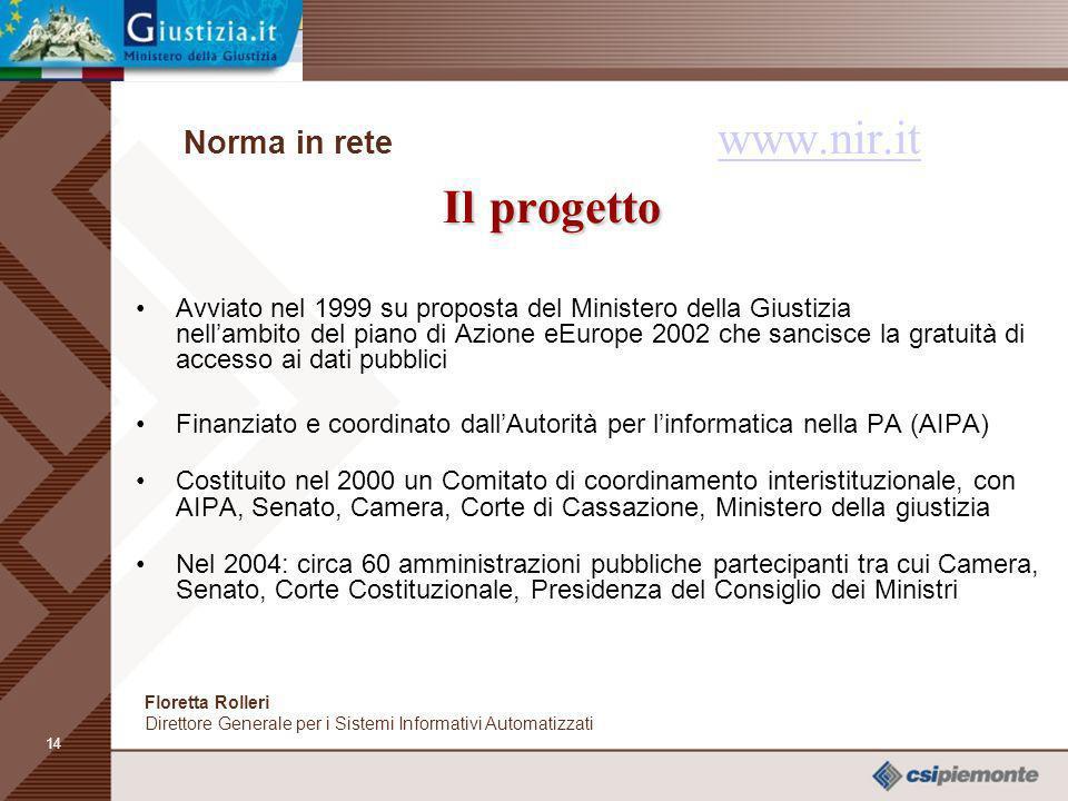 Norma in rete www.nir.it Il progetto