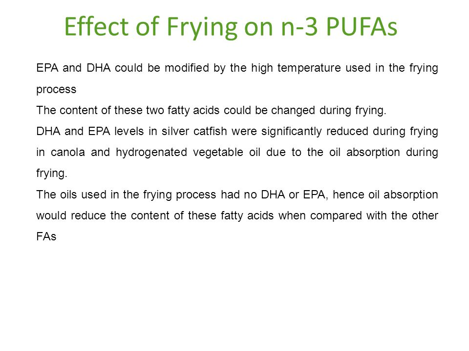 Effect of Frying on n-3 PUFAs