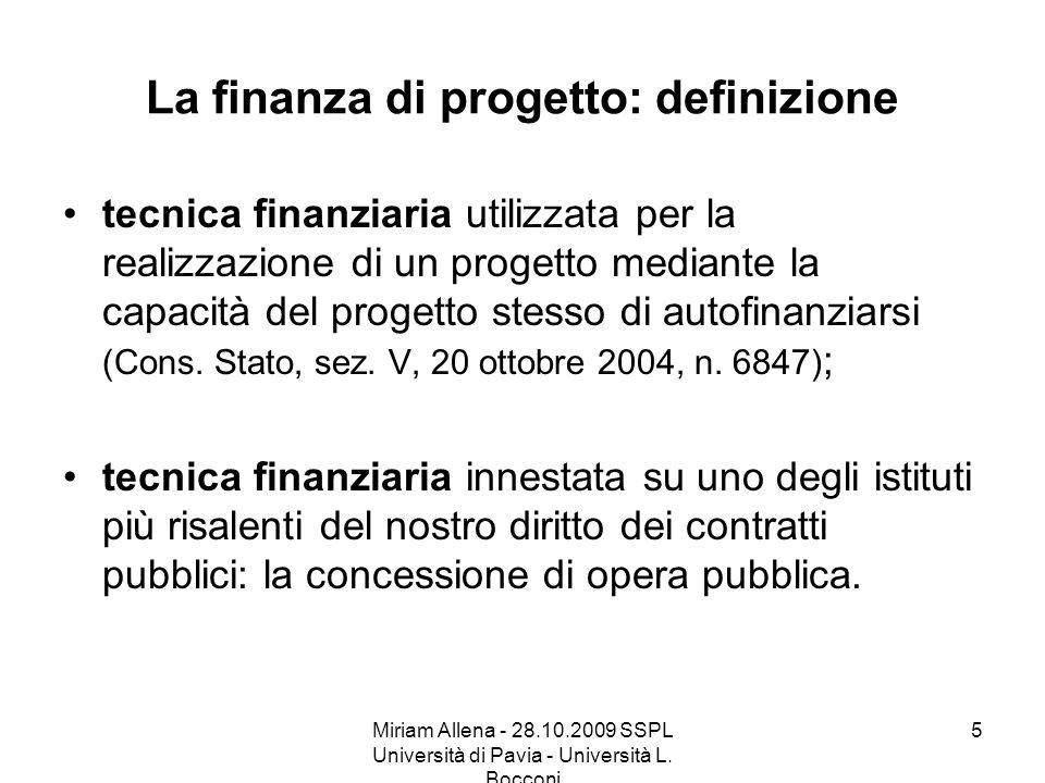 La finanza di progetto: definizione