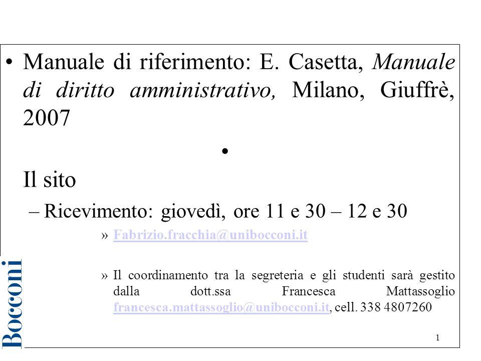 Diritto amministrativo a.a. 2006/2007