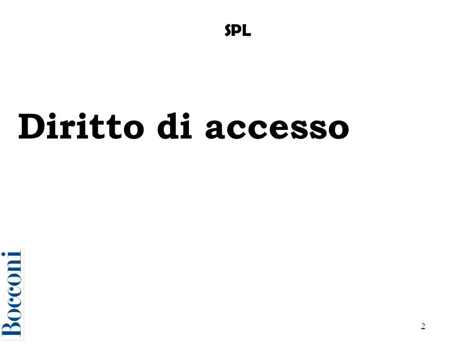 SPL Diritto di accesso
