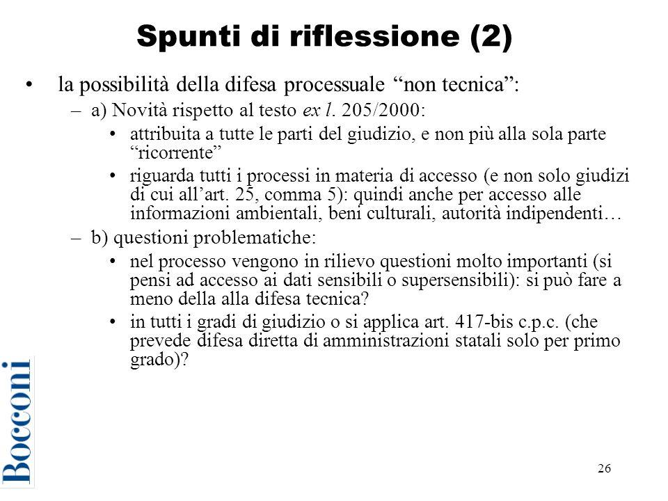 Spunti di riflessione (2)