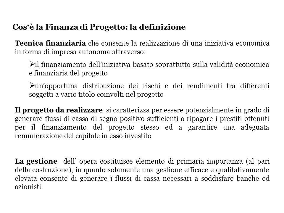 Cos'è la Finanza di Progetto: la definizione
