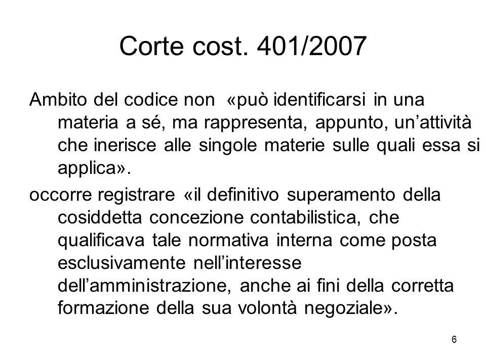 Corte cost. 401/2007