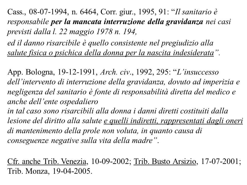 Cass., 08-07-1994, n. 6464, Corr. giur., 1995, 91: Il sanitario è