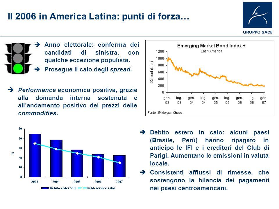 Il 2006 in America Latina: punti di forza…