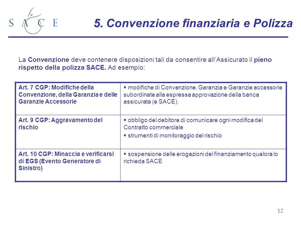 5. Convenzione finanziaria e Polizza