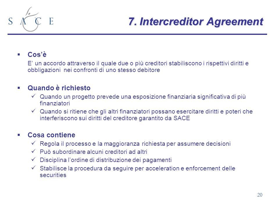7. Intercreditor Agreement