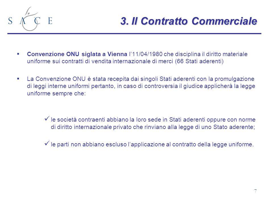 3. Il Contratto Commerciale