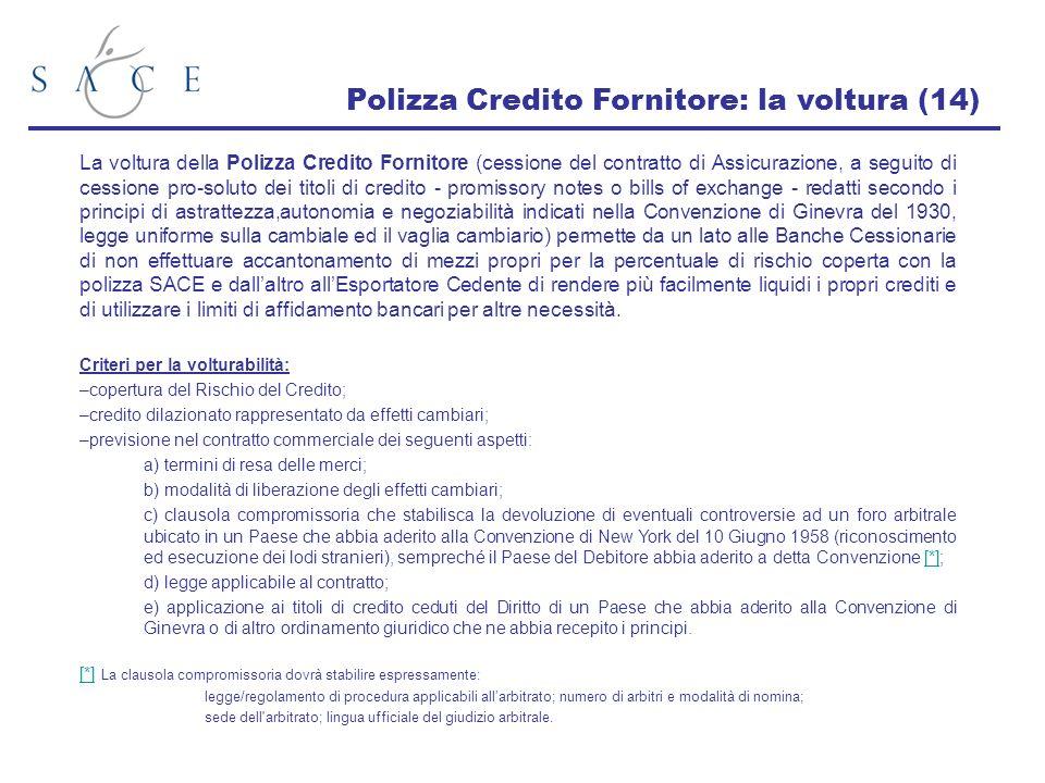 Polizza Credito Fornitore: la voltura (14)