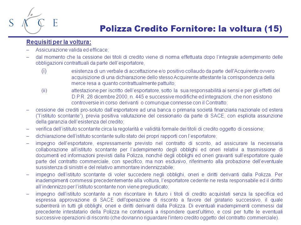 Polizza Credito Fornitore: la voltura (15)