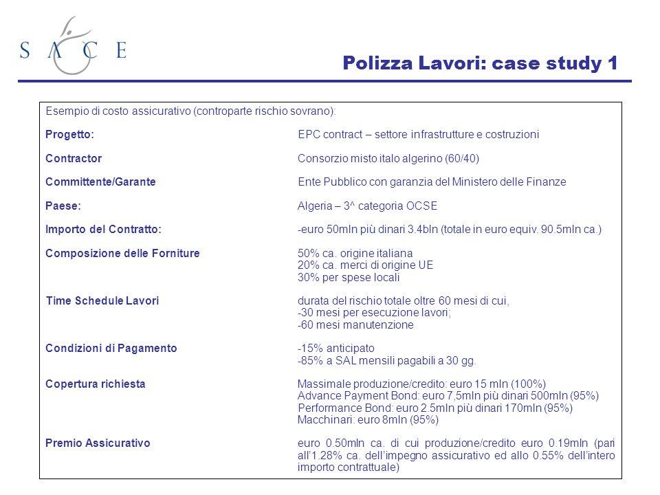 Polizza Lavori: case study 1