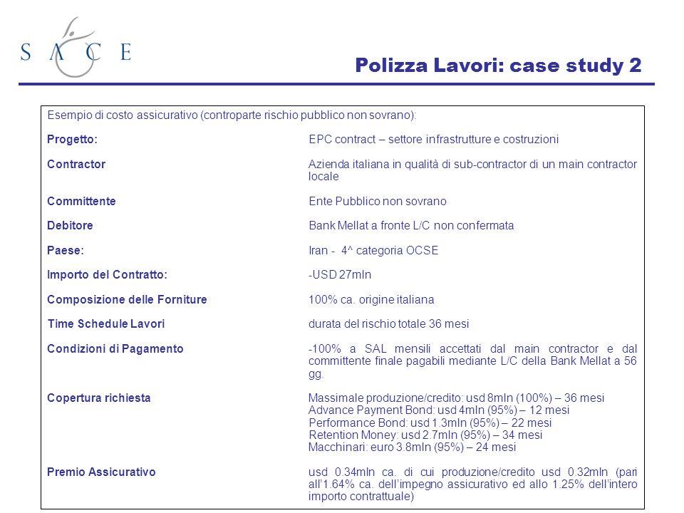Polizza Lavori: case study 2