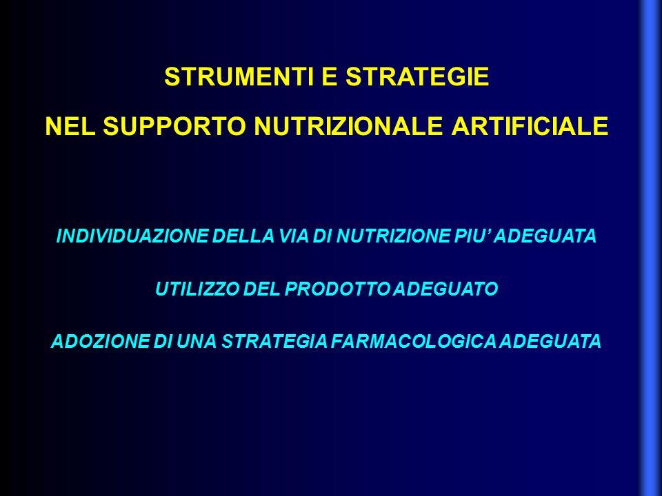 STRUMENTI E STRATEGIE NEL SUPPORTO NUTRIZIONALE ARTIFICIALE