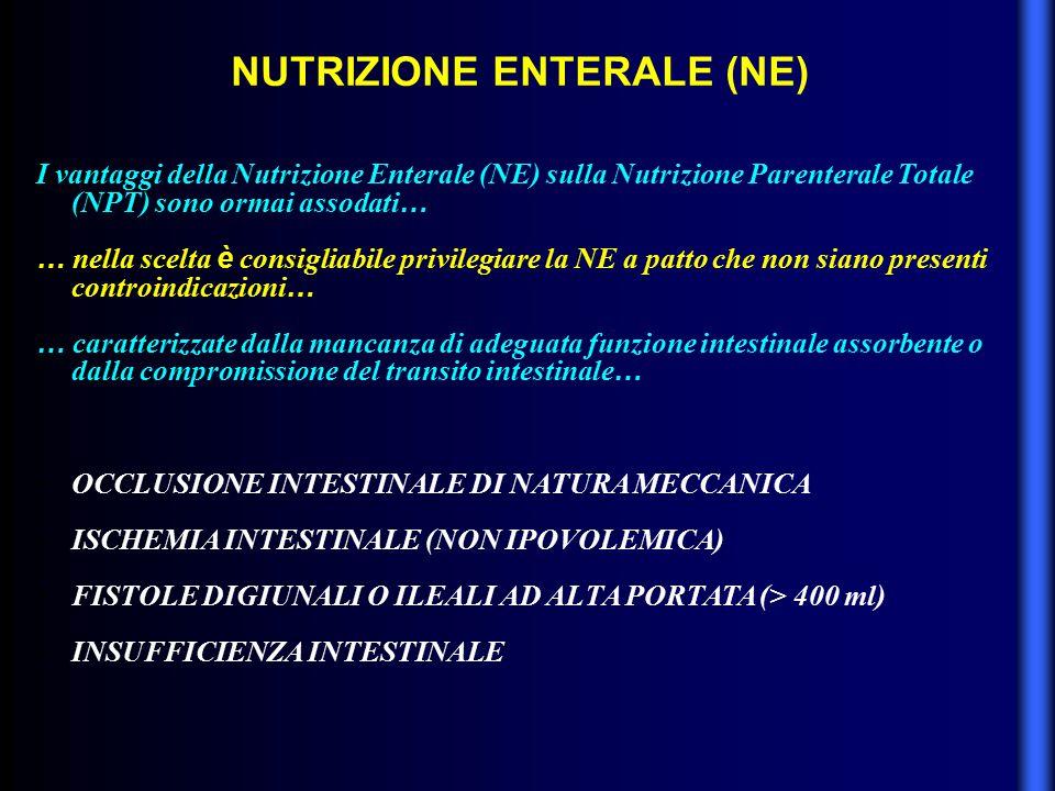 NUTRIZIONE ENTERALE (NE)