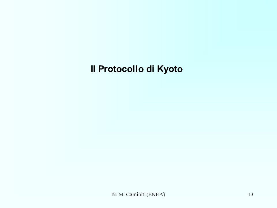 Il Protocollo di Kyoto N. M. Caminiti (ENEA)