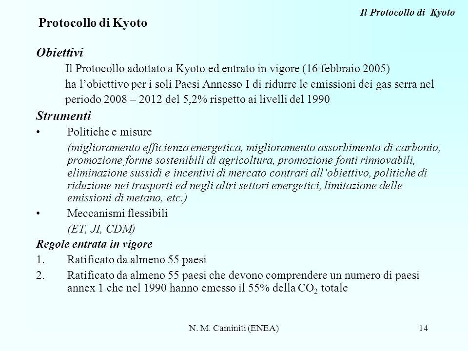 Protocollo di Kyoto Obiettivi Strumenti