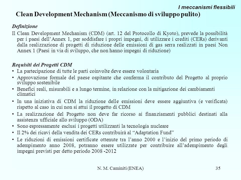 Clean Development Mechanism (Meccanismo di sviluppo pulito)