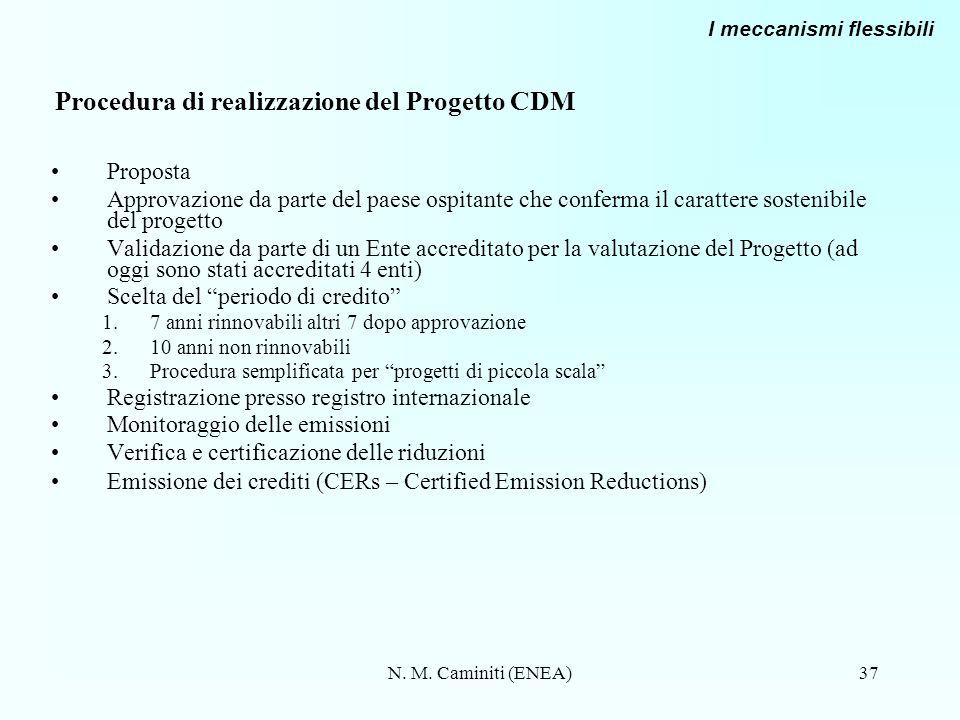 Procedura di realizzazione del Progetto CDM