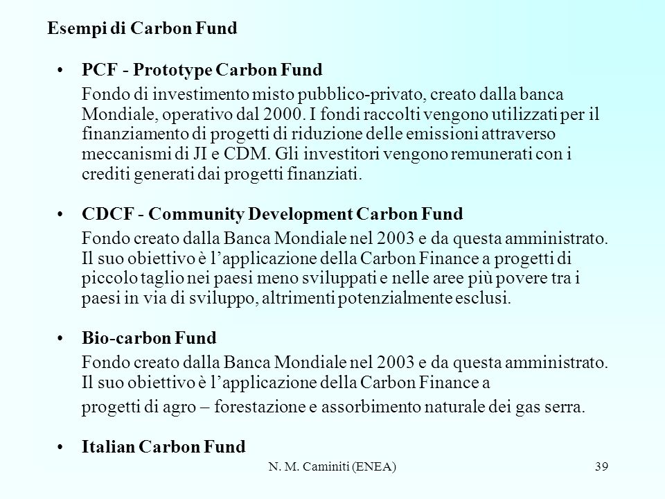 PCF - Prototype Carbon Fund