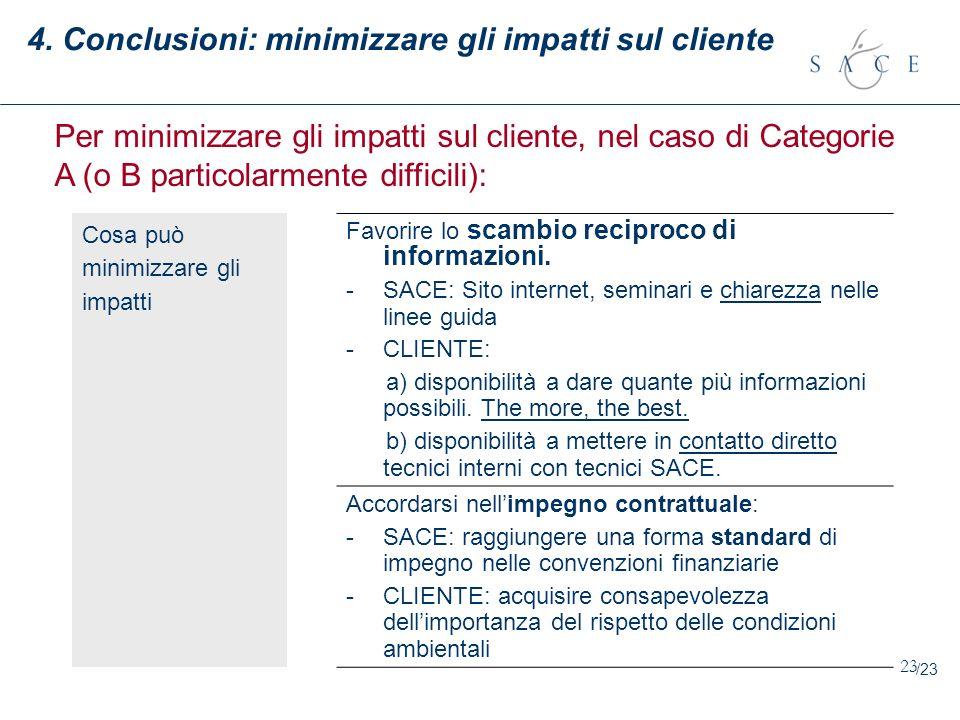 4. Conclusioni: minimizzare gli impatti sul cliente