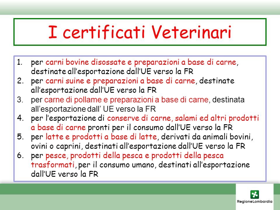 I certificati Veterinari