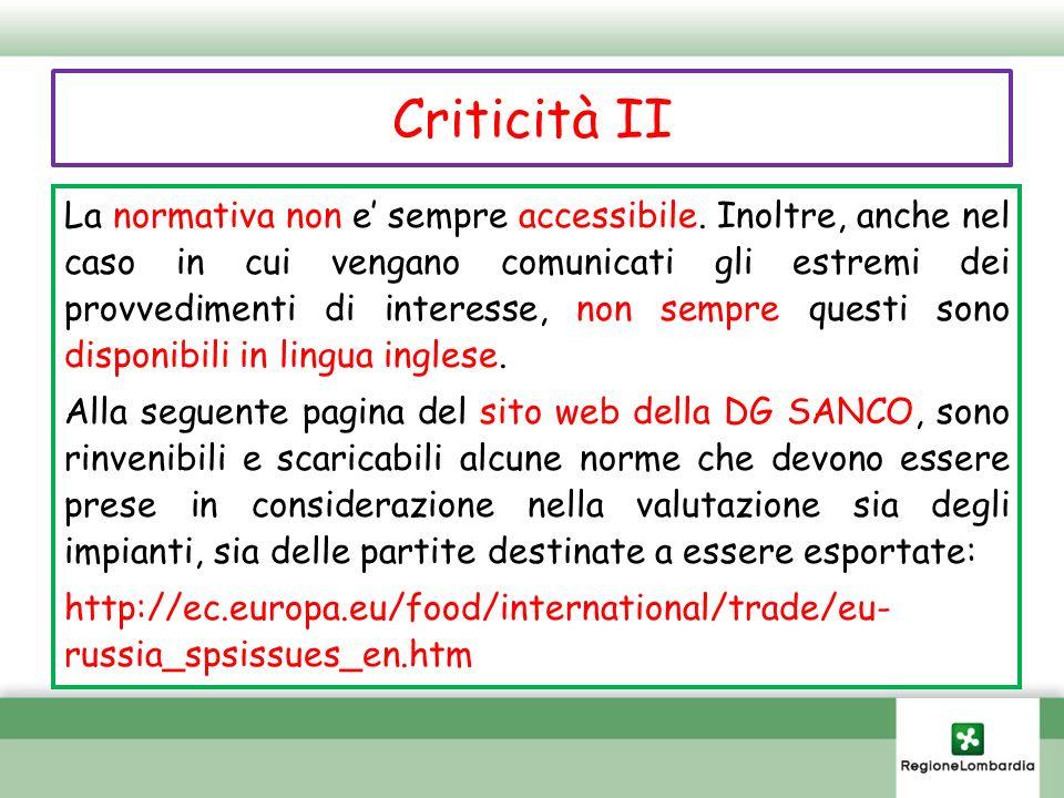 Criticità II