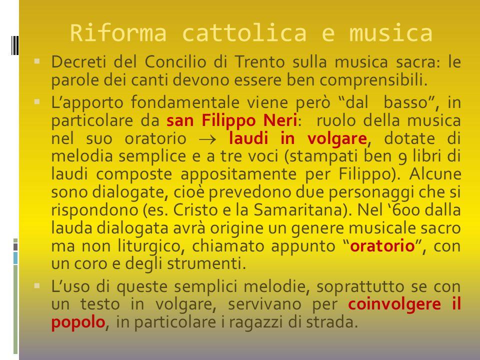 Riforma cattolica e musica