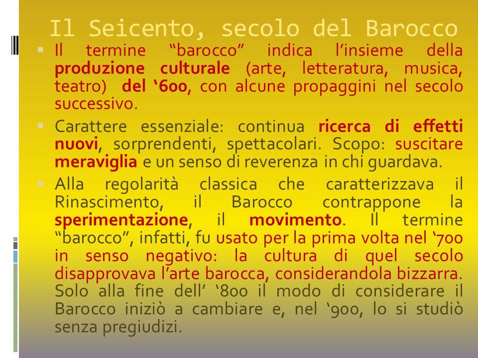 Il Seicento, secolo del Barocco