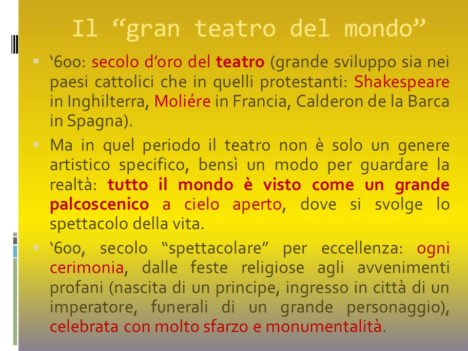 Il gran teatro del mondo