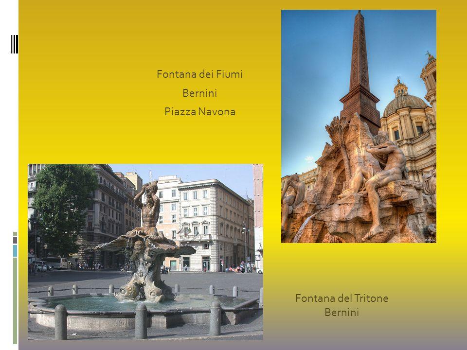 Fontana dei Fiumi Bernini Piazza Navona Fontana del Tritone Bernini