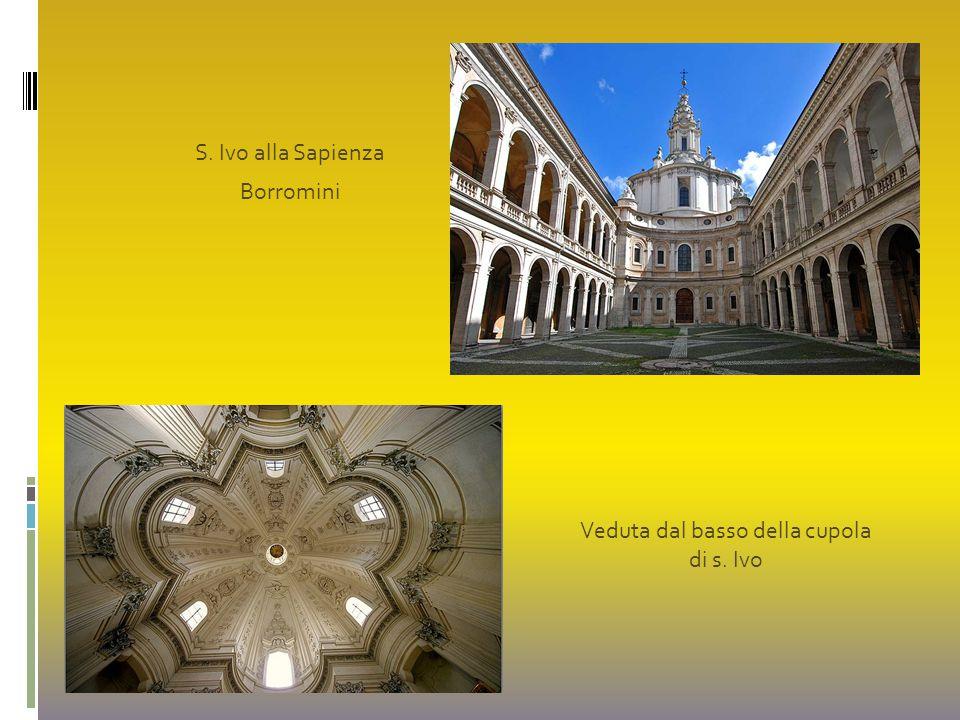 Veduta dal basso della cupola di s. Ivo