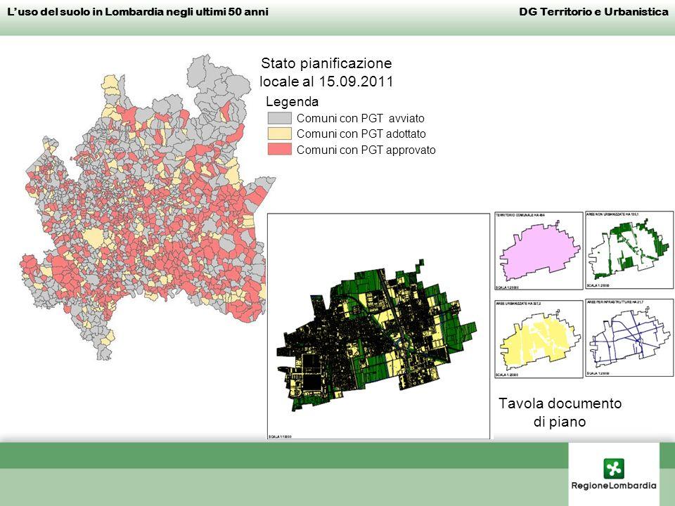 Stato pianificazione locale al 15.09.2011