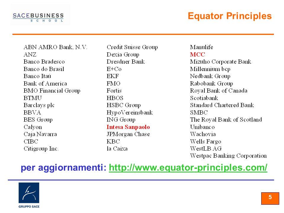 per aggiornamenti: http://www.equator-principles.com/