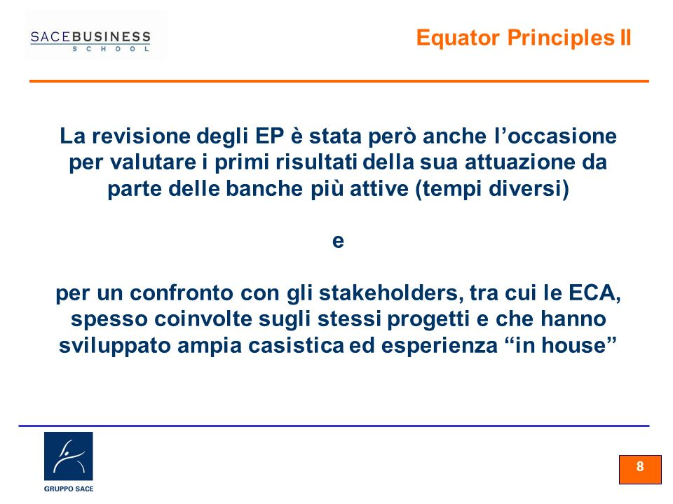 Equator Principles II