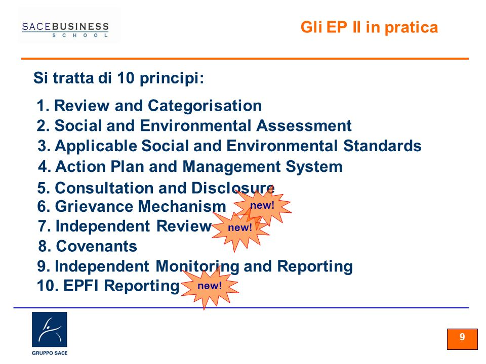 1. Review and Categorisation 2. Social and Environmental Assessment
