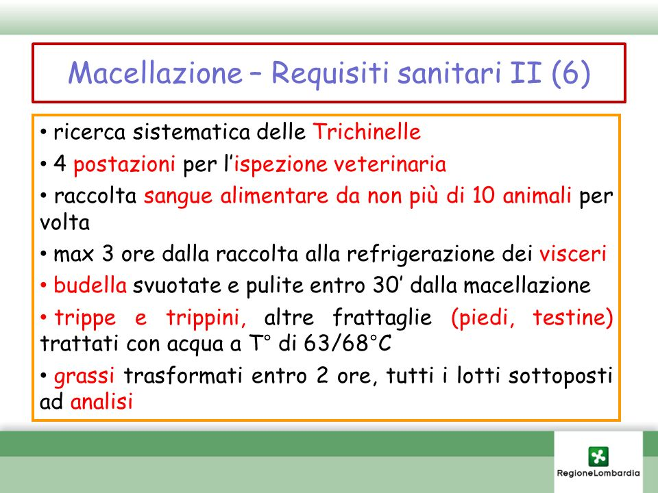 Macellazione – Requisiti sanitari II (6)