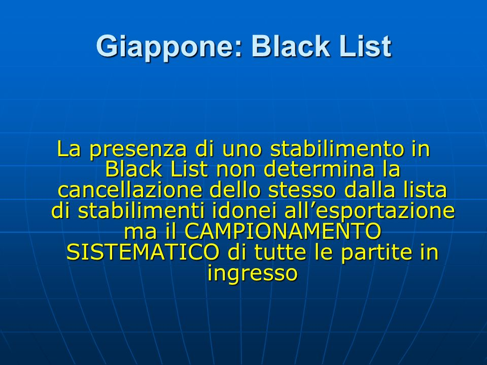 Giappone: Black List