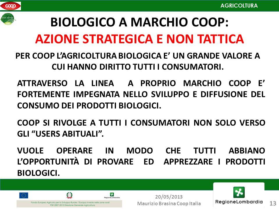 BIOLOGICO A MARCHIO COOP: AZIONE STRATEGICA E NON TATTICA