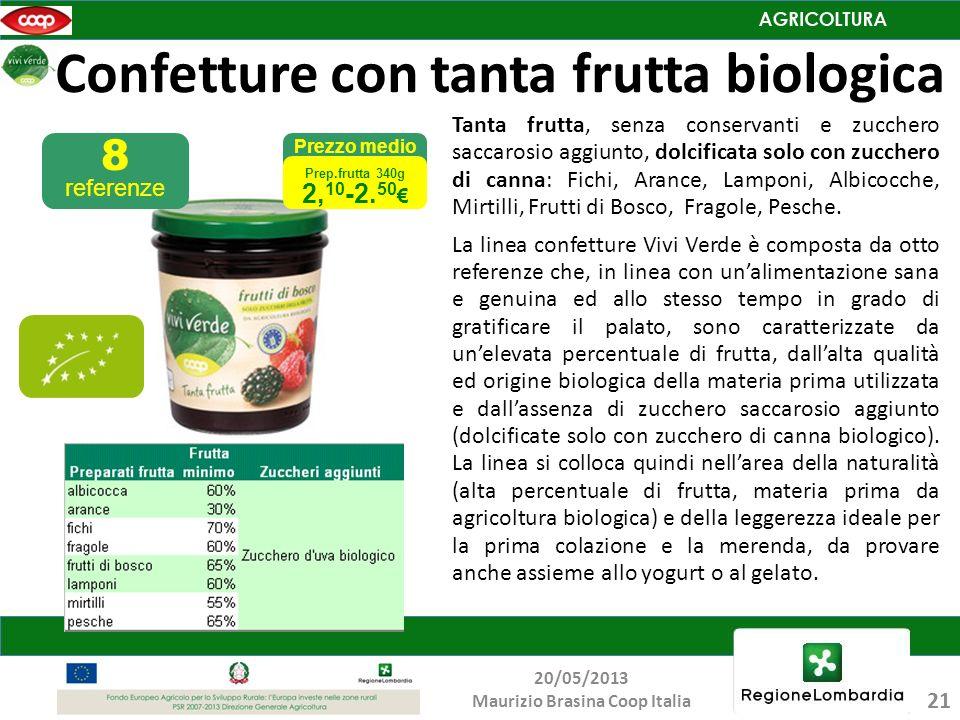 Confetture con tanta frutta biologica