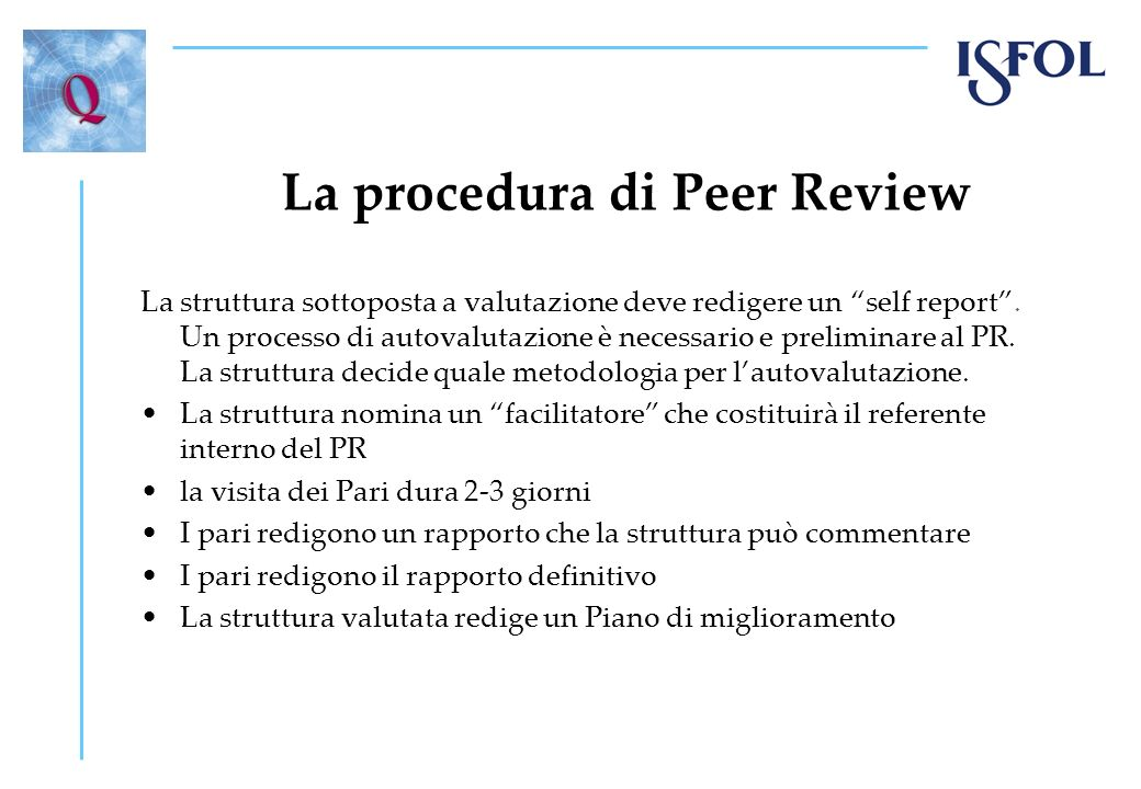 La procedura di Peer Review