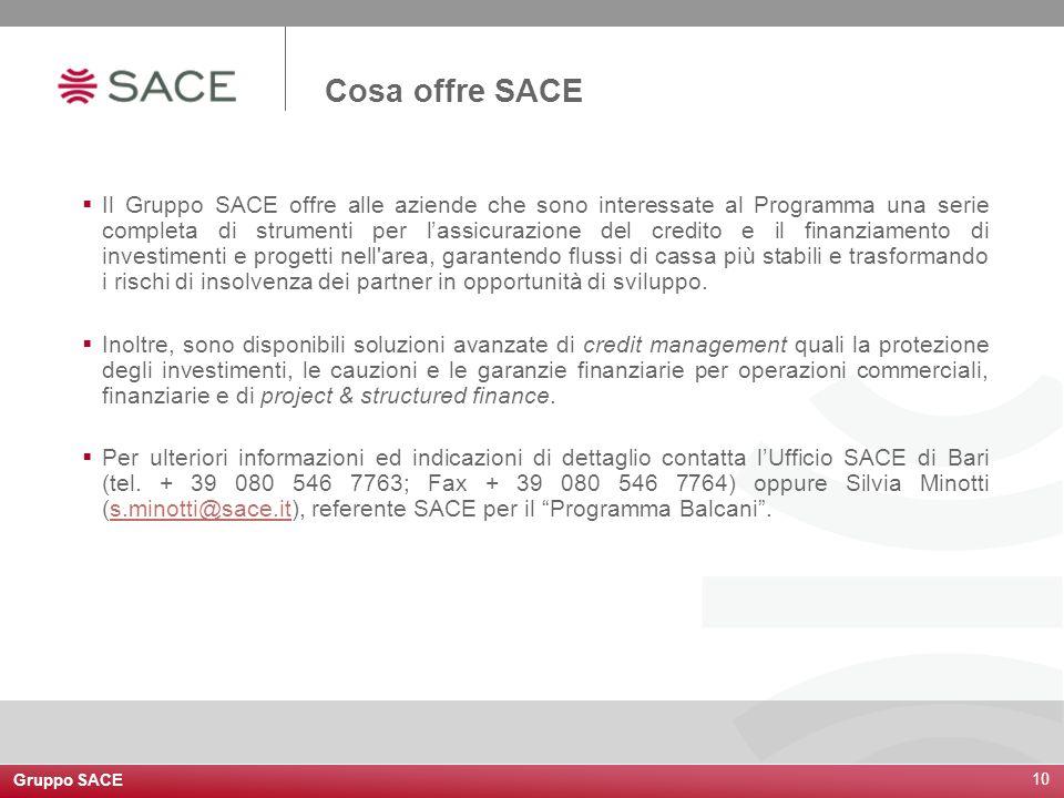 Cosa offre SACE