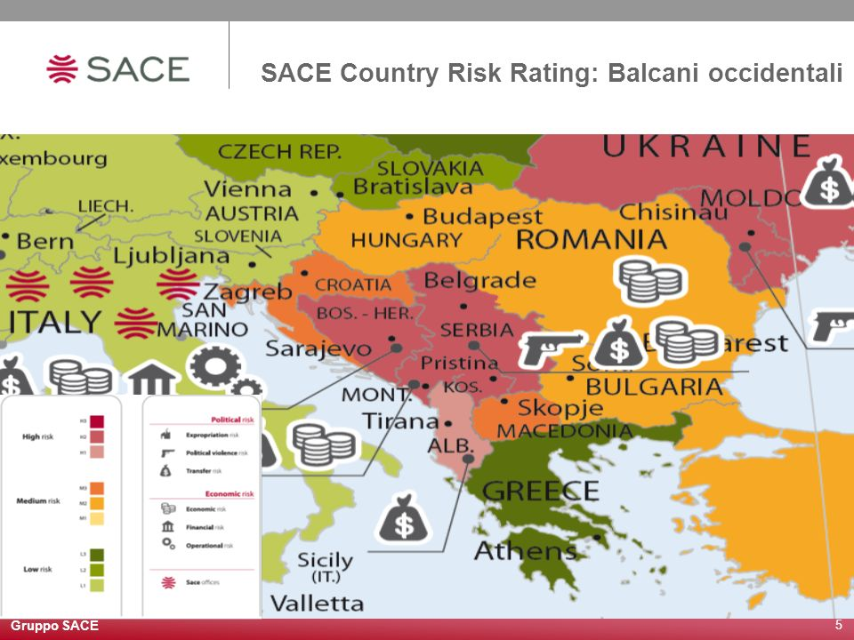 SACE Country Risk Rating: Balcani occidentali