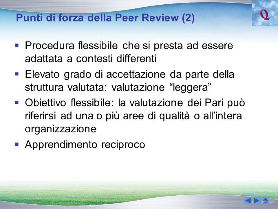Punti di forza della Peer Review (2)
