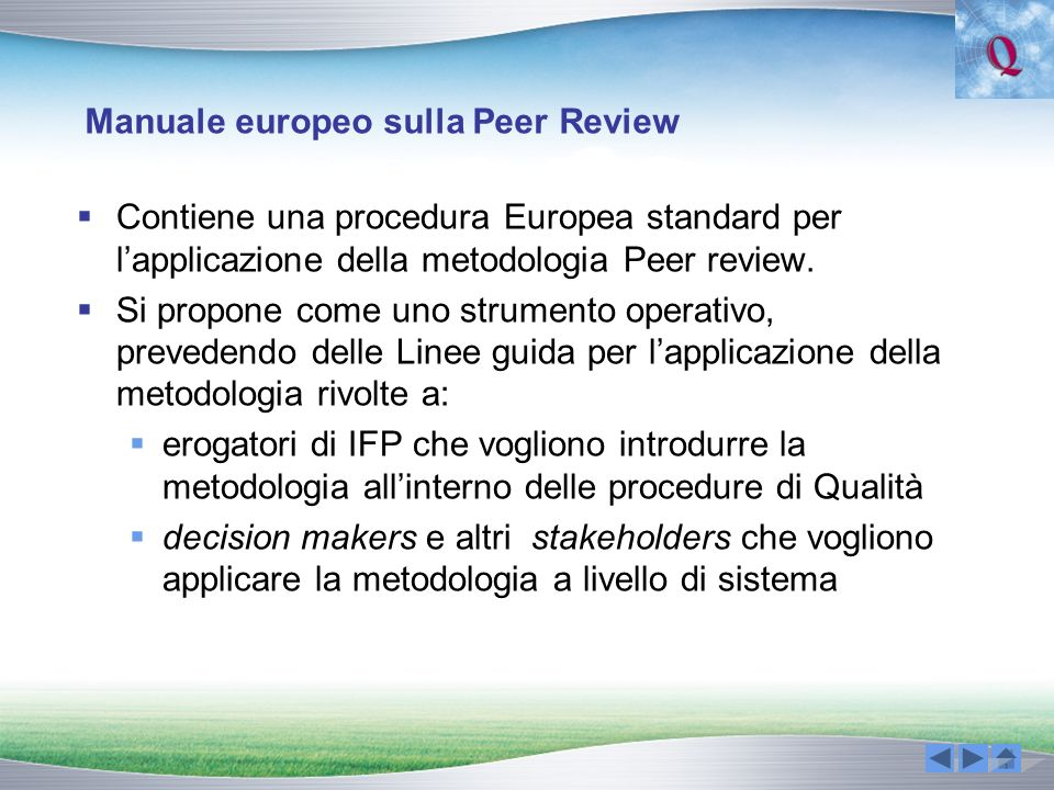 Manuale europeo sulla Peer Review